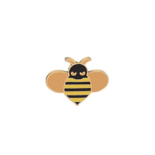 Candy-OU Wedding Brooch Bee Pins Badges Gather Nectar Animal Brooches Sweater Style Honey Lapel Pins for Backpack Button,1381
