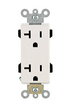 Outlets Duplex 20r - Leviton R42-16352-W Decora Plus Grounded Duplex Outlet, White