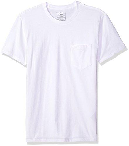 Dockers Men's Crewneck Pocket Short Sleeve T-Shirt, Paper Wh