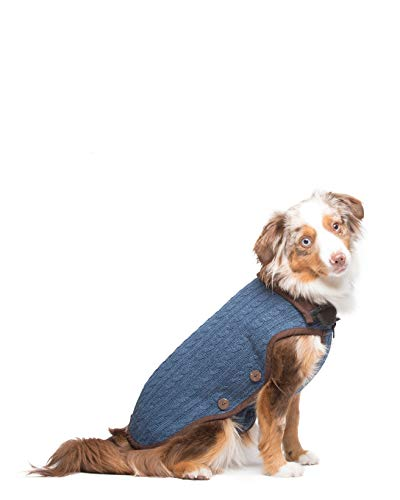 Dog Gone Smart Nano Knit Sweater, Mistic Blue, 18