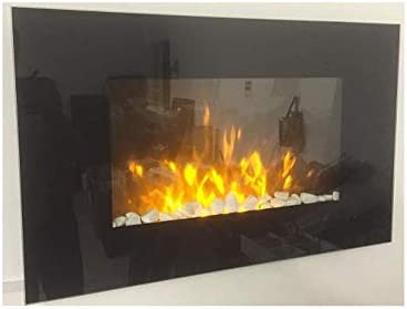 TruFlame Wall Mounted Flat Glass Electric Fire - Best Wall Mounted