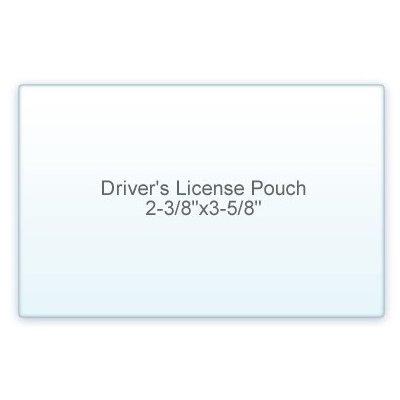 7 Mil. Drivers License Size lamination Pouch Letter Size Clear (2 3/8'' X 3 5/8'') 100 Pcs