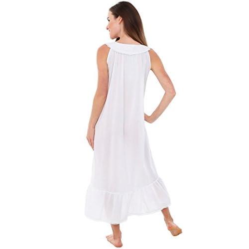 Alexander Del Rossa Womens Caroline Cotton Nightgown 7f9a2fd98