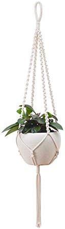 KGBFDX Handgemachte Wandbehang Blumentopf Netz Tasche Innen- Und Außenpflanze Lanyard Natürliche Baumwolle Seil Hängen Korb Netz Tasche-I