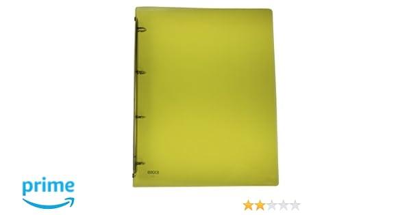 exxo by HFP - Archivador (4 anillas plástico para hasta 40 hojas con auto-adhesivos lomo, color amarillo translúcido 320 x 250 mm: Amazon.es: Oficina y ...