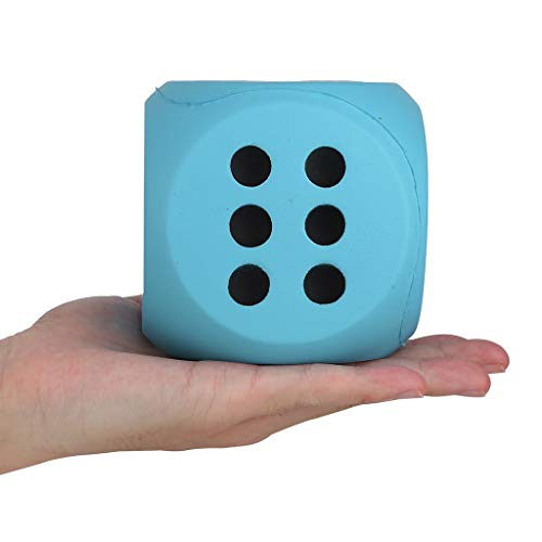 Lljin 10cm Giant Jumbo Dice Slow Rising Cream Scented Stress Relief Toys