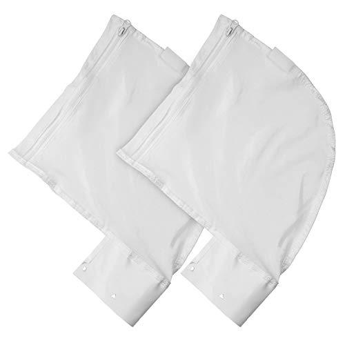 JamBer Nylon Mesh Pool Cleaner Bags,2 Pack Pool Cleaner Replacement Bags for Polaris 280&480 Pool Cleaner All Purpose Filter Bag Part K13, K16