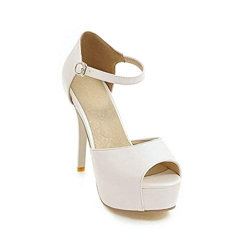 Mode Hauts Sandales Pour Talons Chaussures À 37 Imperméables Zl 46 Femmes White Dames Andales De vn1xCwFaz