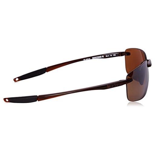 236c4000d4492 Revo Descend N RE 4059 02 BR Polarized Rectangular Sunglasses ...