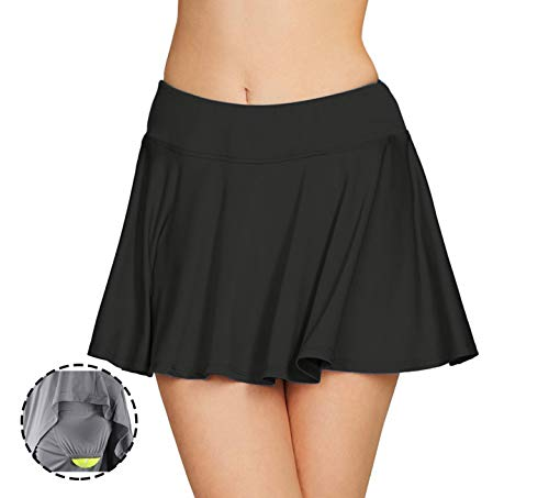 Cityoung Women Running Golf Skort Plus Size Pocket Girl Athletic Tennis Skirt Shorts Underneath s ()