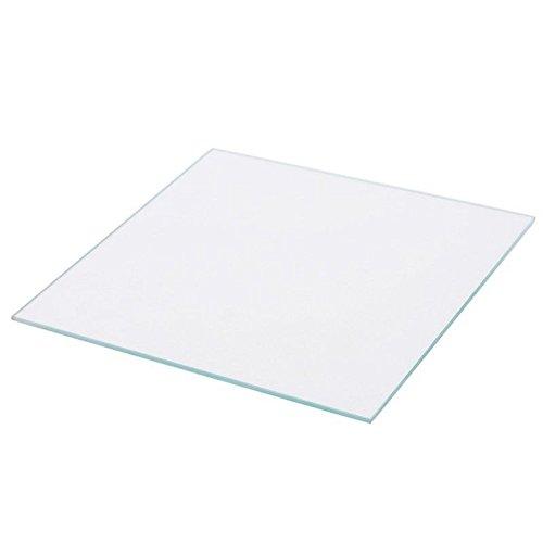 Square 3D Printer Borosilicate Glass Build Plate for MK2/MK2A / Wanhao/CTC / ANET/Mendel / Prusa I3 / Monoprice/TEVO / RepRap 3D Printer Heat Bed BALITENSEN