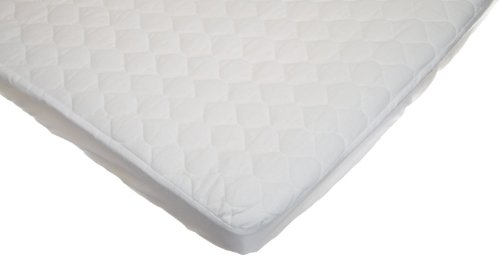 American Baby Company Waterproof Fitted Quilted Portable/Mini Crib Mattress Pad Cover, White -