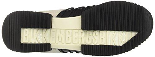 Bikkembergs Odissey 060, Basses Femme Noir (Black/White 900)