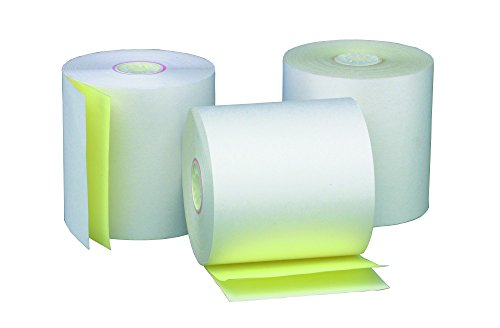 PM Company Cash Register Two-Ply Carbonless Rolls, 2-1/4 x 90 Feet, 50 Rolls per Carton (07854)