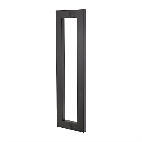 TOGU TG-6013 900mm/36 inches Square/Rectangle Shape Stainless Steel Push Pull Door Handle for Solid Wood, Timber, Glass and Steel Doors, Matt Black Finish