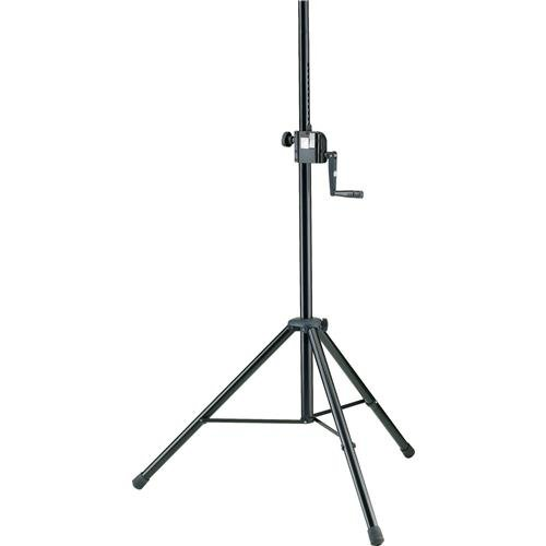 K & M 21302.009.55 Hand Crank Speaker Stand, 54.53-85.83'' Height, 88.11lbs Capacity by K&M (Image #1)
