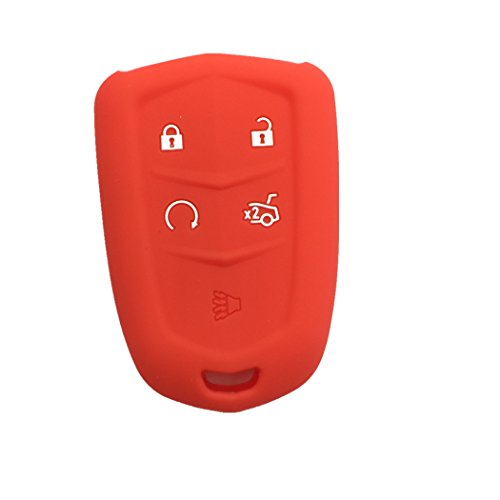 new-red-silicone-skin-protect-5-buttons-key-fob-cover-bag-holder-for-2015-2016-cadillac-cts-xts-srx-
