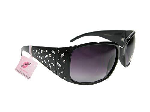 Rhinestone Logo Sunglasses - New Betsey Johnson Logo Sunglasses Black Silver Rhinestone Designer Eye-ware