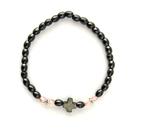 Handmade Christian Orthodox Komboskoini Prayer Rope Hematite with Cross / B ()