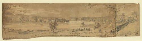 INFINITE PHOTOGRAPHS Photo: American Civil War,Potomac River,Williamsport,Rebel Crossing,Rebel Pontoons,1863