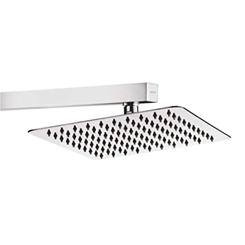Lipka Ultra Thin Square Stainless Steel Shower Over Head Shower Without Shower Arm  6x6