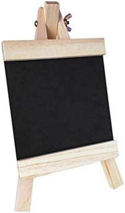 SHENGFU 調節可能な木製スタンド耐久性に優れた耐摩耗性に黒板24 * 13センチメートル木製メッセージボード装飾黒板 (Color : Black)