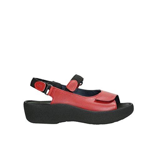 Gioiello Sandali Comfort Gioiello 30500 In Pelle Rossa