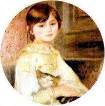 Julie Manet - Renoir Keychain