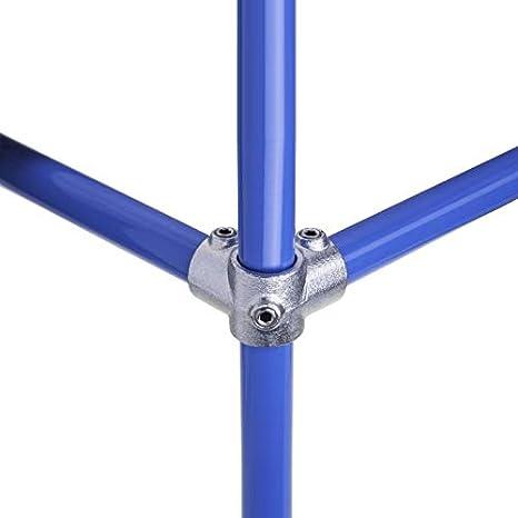 1 WITTKOWARE Rohrverbinder aus verzinktem Temperguss Kreuzverbinder 3 Abg/änge lackierbar /Ø 33,7mm 33,7mm