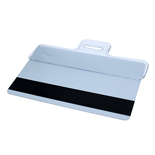 Horizontal Vinyl Half Card Badge Holder - Leaves Magnetic Strip Exposed by Specialist ID, Sold (Bar Vinyl Badge Holder)