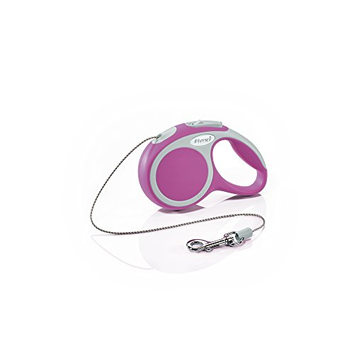 Flexi Vario Retractable Dog Leash (Cord), 10 ft, Extra-Small, Pink