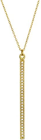 Benevolence LA Gold Necklaces for Women - Celebrity Endorsed Gold Necklaces for Women Pendant Tassel Gemstone