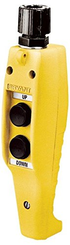 Bryant Electric PCS002 Compact Pendant Control Station On-Off Two-Button Single Speed with Mechanical Interlock, Yellow (Compact Electric Hoist)