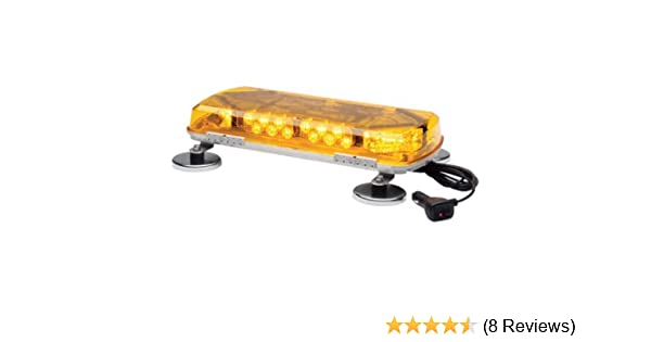 Whelen Century Amber Mini Lightbar with Magnetic Mount - 12 Volt, 16in, 8  LEDs, Model# MC16MA