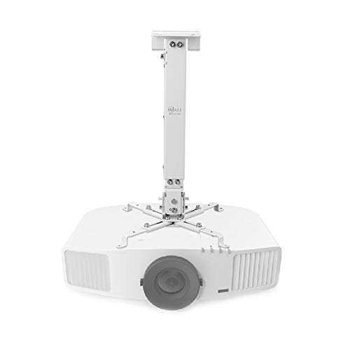 Universal Projector Ceiling Mount Multiple Adjustment Bracket with 25.6 inches Extension Pole, Hold up to 44 lbs (PM-001-WHT), - Accessories Mount Projector Ceiling