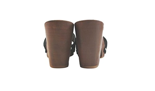 Silfer Shoes - Zuecos de Piel para mujer negro negro taglia unica