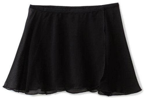 Danskin Big Girls' Wrap Skirt, Rich Black, Medium/Large