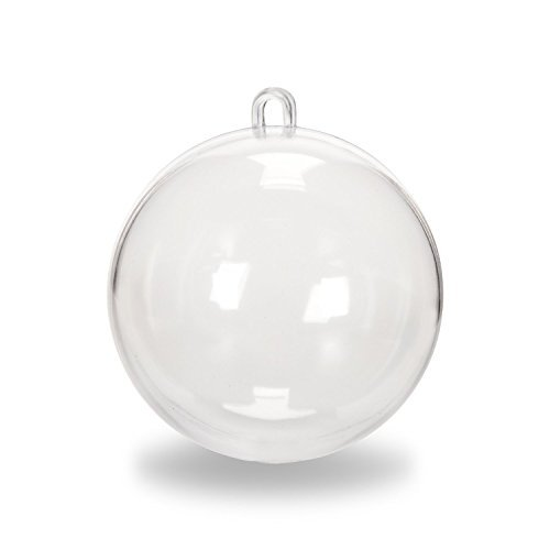 Darice 1105-96 Plastic Ball Ornament, 70mm, Clear -12 pack