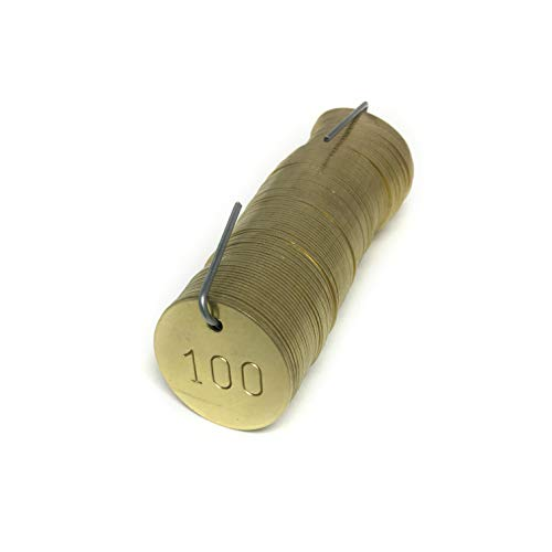 Numbered Brass Tags - Pick Your Set of 100, 500 or 1,000 (Number Options 1-1000)