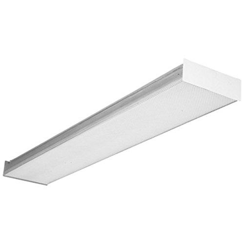 Lithonia Lighting SB432 MV 4-Feet 4-Light 32W T8 Contractor Select Square Basket Multi-Volt Wraparound, White