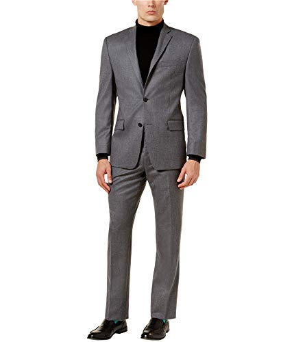 - Michael Kors Mens Classic-Fit Two Button Suit, Grey, 42 Regular / 35W x UnfinishedL