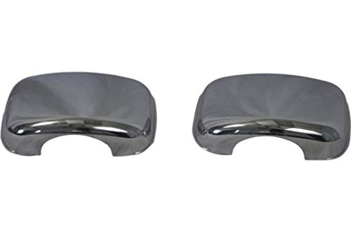 RusAm International Freightliner Cascadia Truck Chrome Hood Mirror Covers Set 2 Pieces Left & Right ()