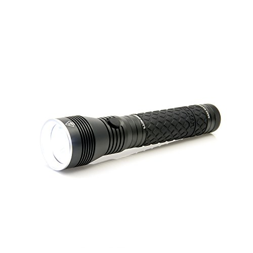 LUX-PRO LP1200 650 Lumen Handheld LED Flashlight - Aa Led Rubber Grip Flashlight