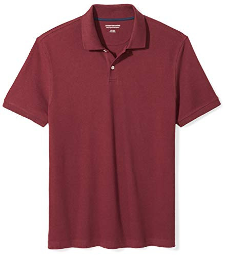 Amazon Essentials Men's Slim-Fit Cotton Pique Polo Shirt, Port, Medium