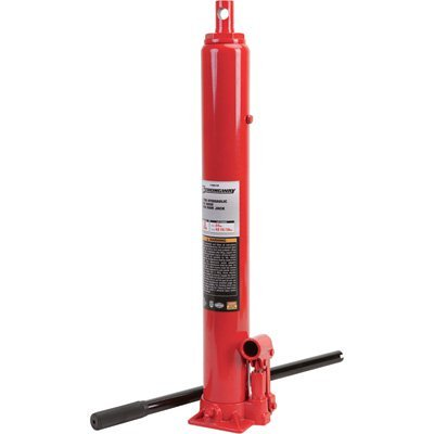 Strongway Hydraulic Long Ram Jack - 3-Ton Capacity, Single Piston, Flat Base ()