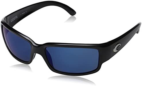 112ffb265e1e Costa del Mar Cabalitto Polarized Iridium Wrap Sunglasses, Black, 59.2 mm