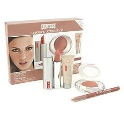 Natural Attitude Kit - Light Brown: ( 1x Foundation + 1x Eyeshadow + 1x Lipstick + 1x Lip Pencil ) - Pupa - MakeUp Set - Natural Attitude Kit - 4pcs