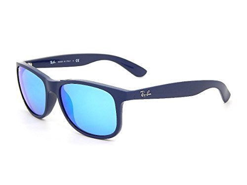 Ray Ban Andy RB4202 615355 Blue/ Blue Mirror 55mm - Expo Sunglass