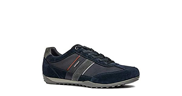 Geox Wells C U52T5C Mens Breathable Grey Blue Leather