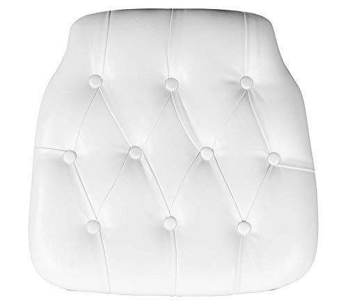 Premium Hard White Tufted Vinyl Chiavari Chair Cushion